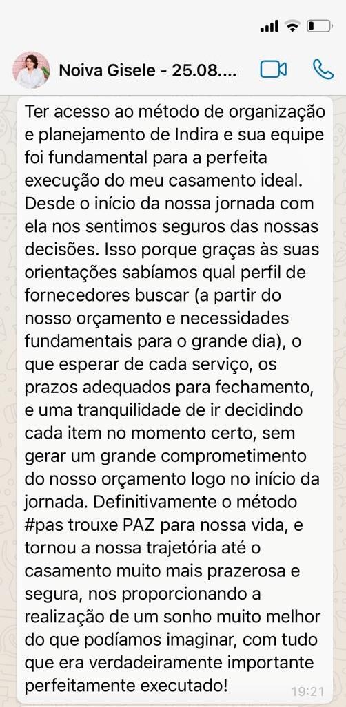 Depoimento Gisele Dias